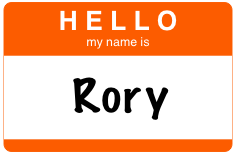 Hello my name is Rory